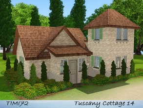 Sims 3 — Tuscany Cottage 14 by timi722 — Small starter cottage in tuscan style. Best for a single sim, or a starter