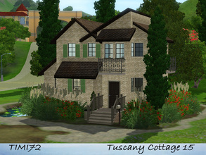 Sims 3 — Tuscany Cottage 15 by timi722 — Small starter cottage in tuscan style. Best for a single sim, or a starter