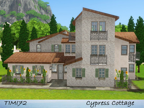 Sims 3 — Cypress Cottage by timi722 — Tuscan style home with a small kitchen-garden. Created for a mediterranean world.