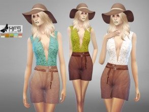 Sims 4 — MFS Amelia Outfit by MissFortune — A elegant romper with high quality details. New mesh from GTW compatible for