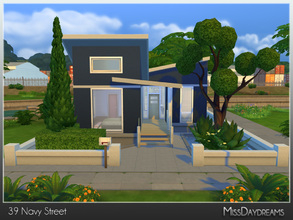 Sims 4 — 39 Navy Street by MissDaydreams — 39 Navy Street is a small but lovely house built in modern style, perfect for