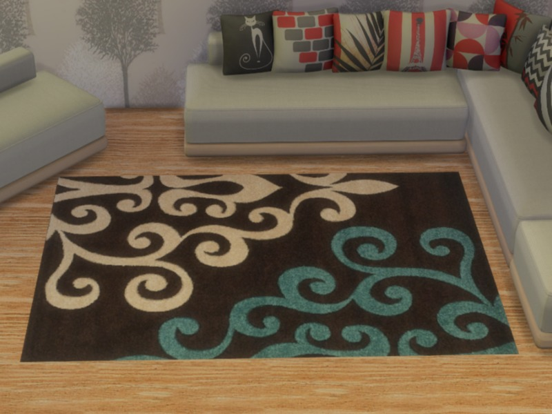 Twistedfoil S Realistic Damask Rug