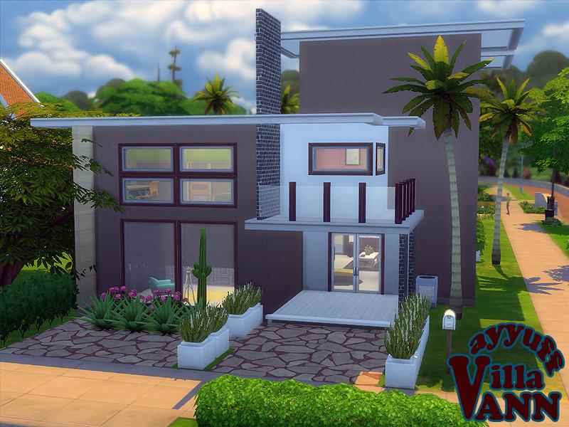 Ayyuff 39 s villa ann furnished for Sims interior designs 1