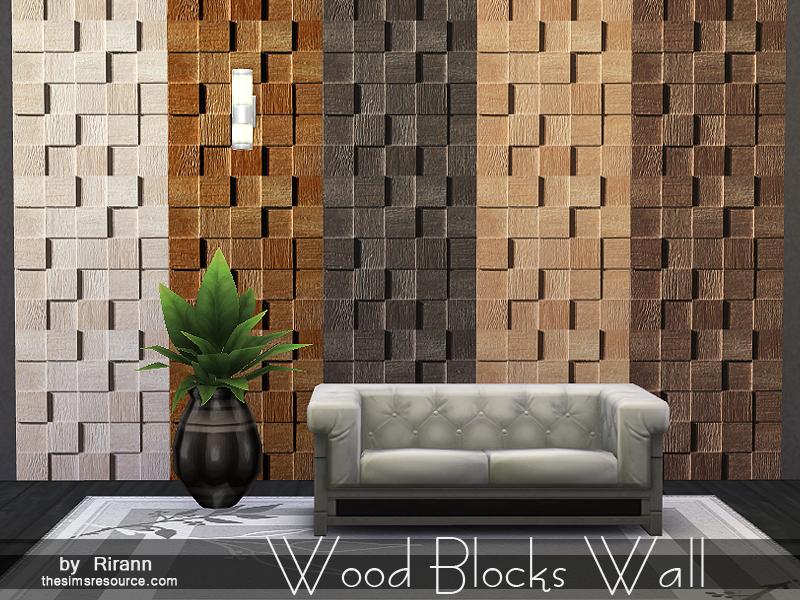 rirann's wood blocks wall