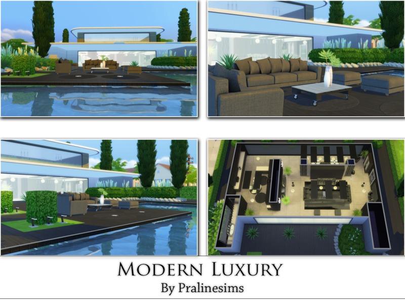 Modern Luxury House pralinesims' modern luxury