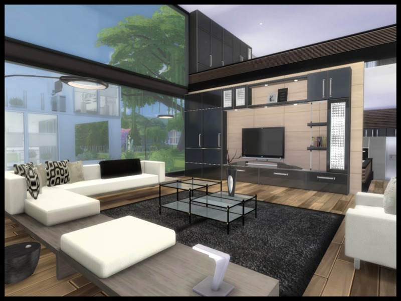 Chemy 39 s altara modern living for Modern living room sims 4