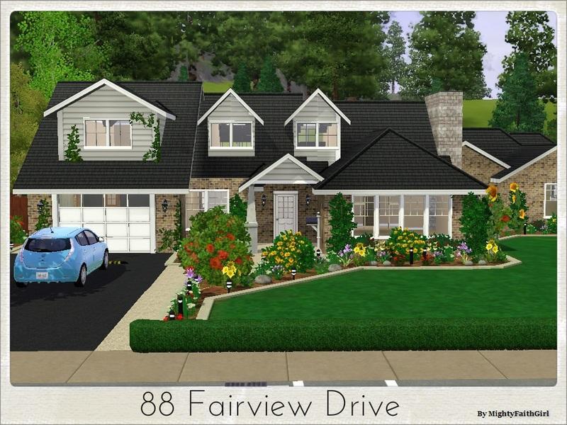 Mightyfaithgirl 39 s 88 fairview drive for Sims 3 family home ideas