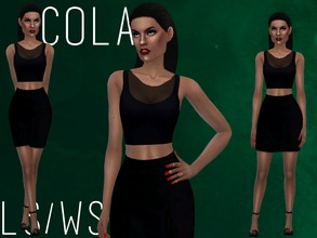 Sims 4 — COLA [SET] by Witch-Sims2 — cute'n'black, 1 top and 1 bottom (only one swatch)