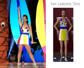 Sims 2 — Katy Perry - Superbowl XLIX Halftime Show Outfit by DreamHigh192 — This is my first creation, hope you like it.