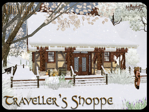Sims 3 — Traveller's Shoppe by murfeel — A quaint little medieval shop for your sundry needs! Inside, there's a storage