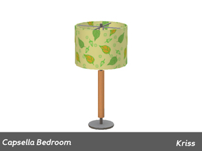Sims 3 — Capsella Bedroom Table Lamp by Kriss — Made by Kriss@TSR. TSRAA