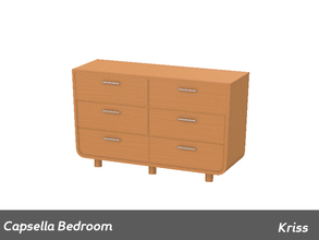 Sims 3 — Capsella Bedroom Dresser by Kriss — Made by Kriss@TSR. TSRAA.