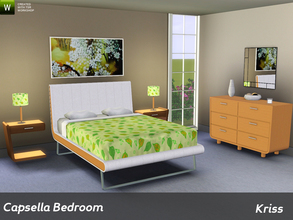 Sims 3 — Capsella Bedroom by Kriss — A small modern bedroom set that I created last year but never finished completely