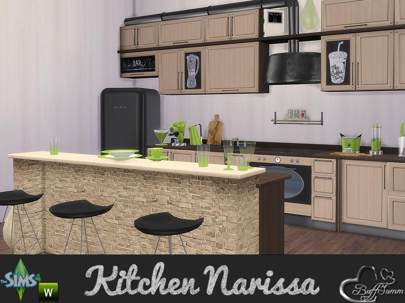 Buffsumm 39 s kitchen narissa for Kitchen set sims 4