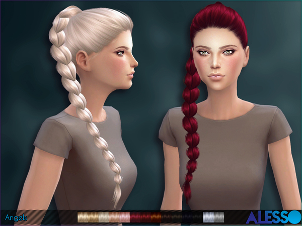 Alesso Angelszip Fryzury The Sims 4 Kita9000