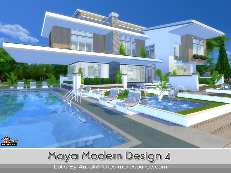 Autaki 39 s maya modern design 4 for Sims 4 modern house plans