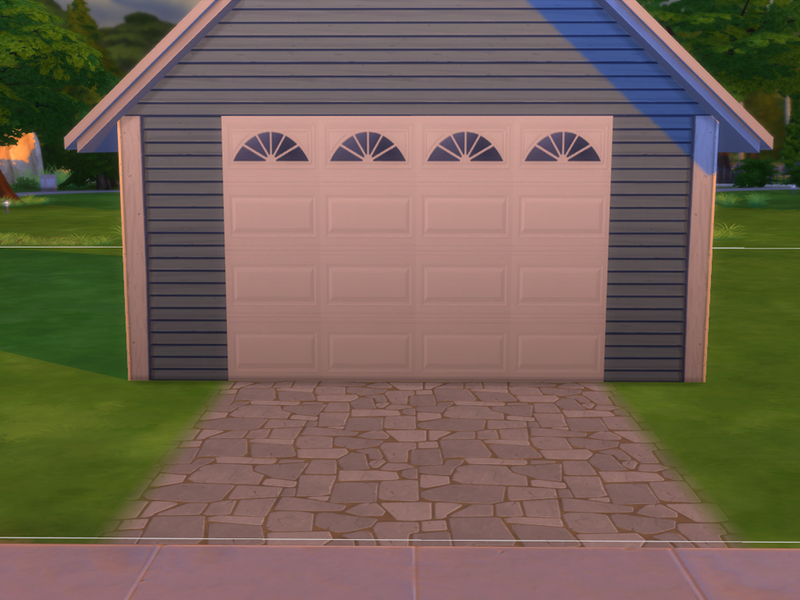 Sarahstar 13 39 s garage door wall for Sims 4 garage