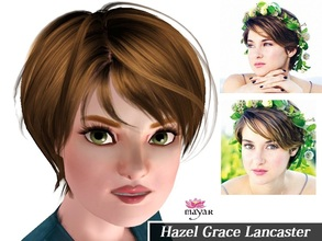 Sims 3 — Hazel Grace Lancaster by MayarYosuf2 — -Okay? -Okay. The Sweet Hazel Grace is now a sim! You guys need to check