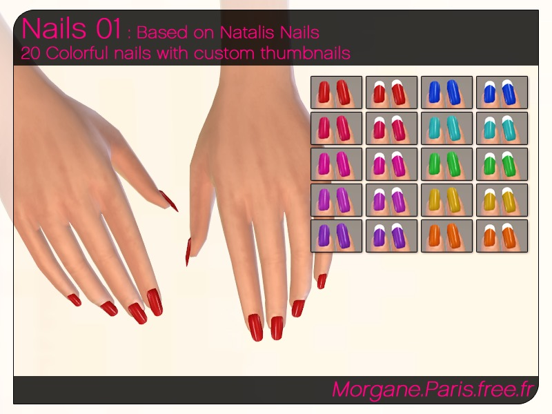 Sims 4 Downloads - \'nails\'