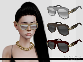 Sims 3 — LeahLillith Zoedic Glasses by Leah_Lillith — Zoedic Glasses 3 recolorable areas avilable for males and females