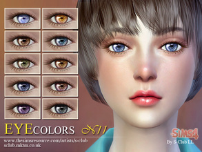 Sims 4 Eye Colors - 'children'