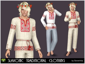 Sims 3 — Slavonic national clothing by Severinka_ — Vyshyvanka - slavonic men's national historical clothing Outfit,