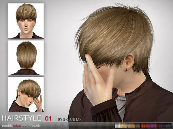 Pack de peinados para hombre sims 4