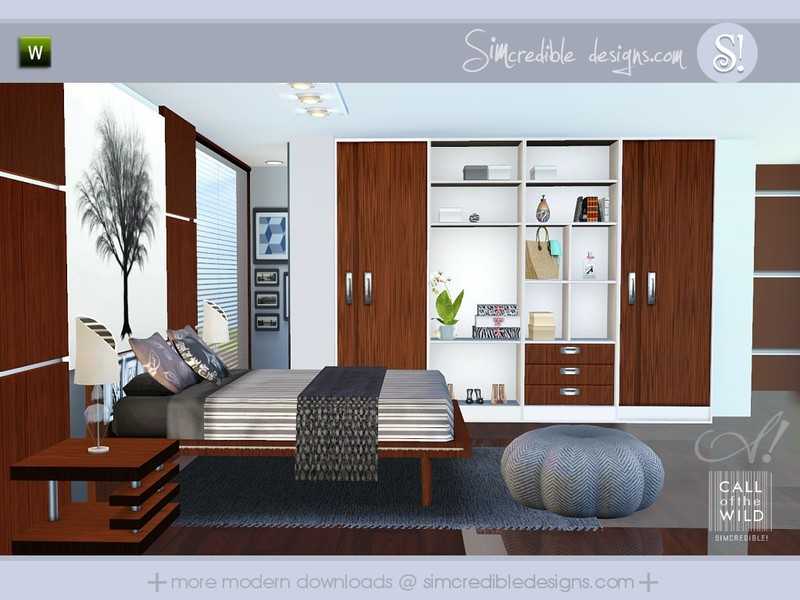 Simcredible 39 s call of the wild for Bedroom designs sims 4