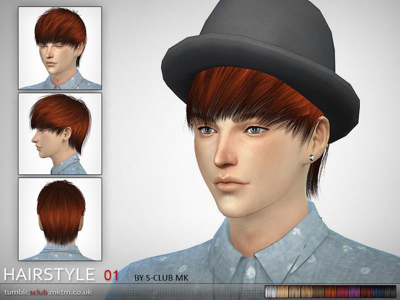 S-Club MK The Sims 4 - Hair #1