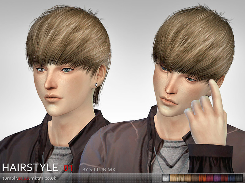 S Club Mk The Sims 4 Hair 1