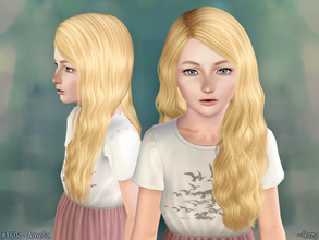 Sims 3 — Amelia Hairstyle - Child by Cazy — Hairstyles for Female, Child. All LOD included.