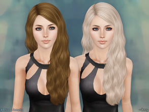 Sims 3 — Amelia Hairstyle - T~E by Cazy — Hairstyles for Female, Teen through Elder. All LOD included.