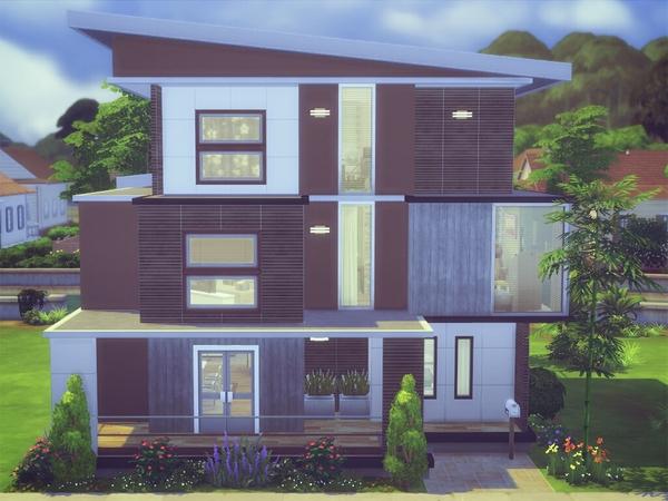 keterangan: furnitur rumah lengkap 3 lantai dengan 3 kamar tidur dan 3 kamar mandi seharga $164.689 dan berukuran 20x15 & Rekomendasi Lot Residensial #1   SharingSims4Indo
