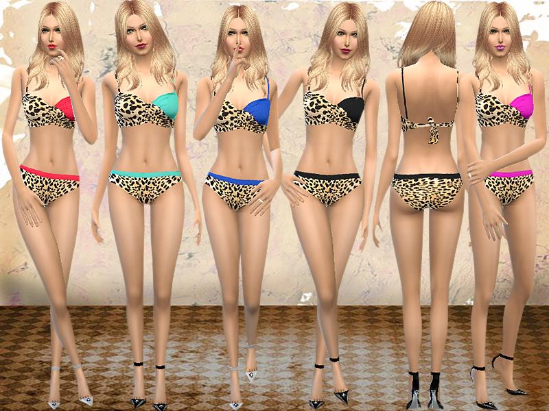 melisa inci's Halter Coated Bikini