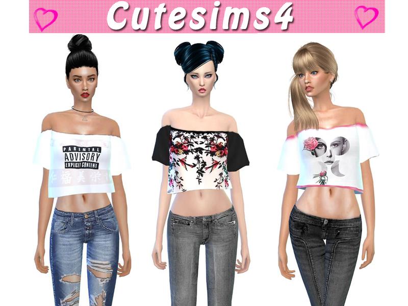 Sweetsims4 S Sooo Cute Top Set