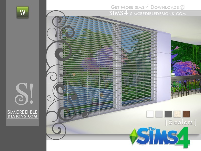 Simcredible 39 s finding grace blinds for Sims 4 balcony