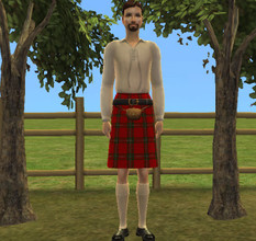 Sims 2 — MacGregor Tartan by groovysimmergal — I\'m not overly-fond of the EAxis kilts, so I made this one instead. I