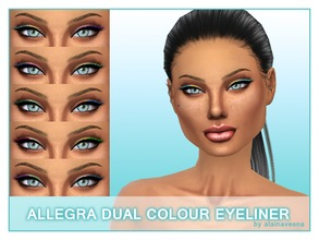 Sims 4 — Allegra Dual Colour Eyeliner by alainavesna — Here is a set of fun dual colour eyeliners in ten different