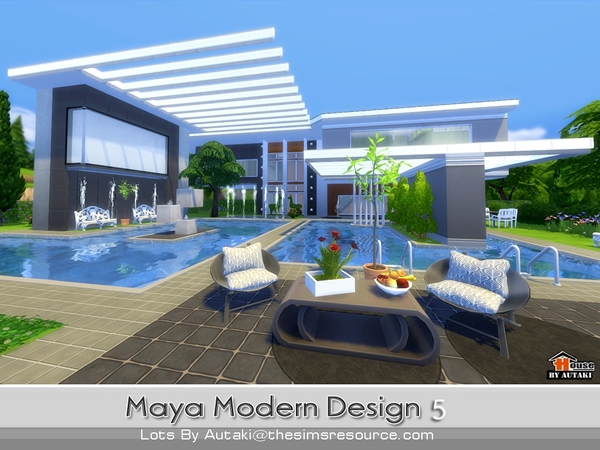 Autaki 39 s maya modern design 5 for Big modern house the sims 4