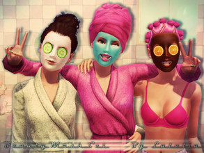 Sims 3 — Beauty Mask Set by Lutetia — This set contains all you need to create a refreshing beauty mask for your sim