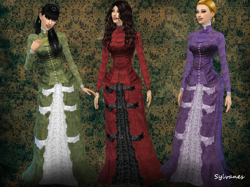 Sylvanes\' Victorian Bustle outfit01_T.D.
