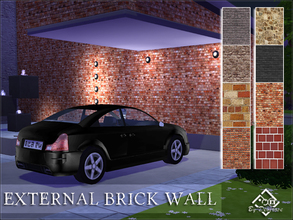 Sims 4 — External Brick Walls Set by Devirose — Eight walls ideal for outdoor, modern and stone cut in various ways.