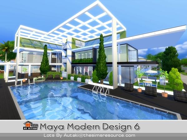 Autaki 39 s maya modern design 6 for Modern house design sims 4