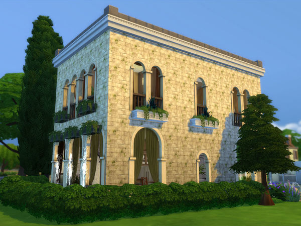 Ineliz 39 s classic roman house for Classic house sims 4