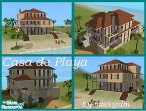 Sims 2 — Casa de Playa by missyzim — Beautiful beach house with lots of character. Unfurnished. Burnt Red Tile roof by
