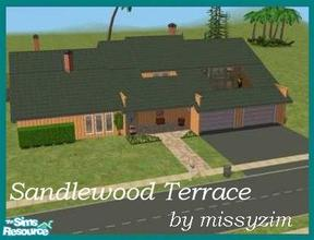 Sims 2 — Sandlewood Terrace by missyzim — Large family home or mountain retreat. Fully furnished. All Maxis content.