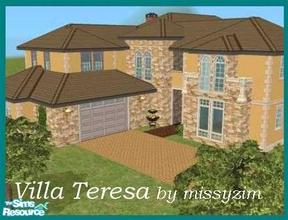 Sims 2 — Villa Teresa by missyzim — Large villa with guest suite. Unfurnshed. All Maxis content.