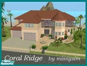 Sims 2 — Coral Ridge by missyzim — Beachside family or vacation home. Unfurnished. All Maxis conent.