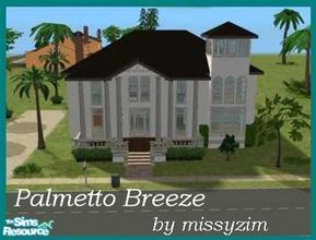 Sims 2 — Palmetto Breeze by missyzim — Family or vacation home with a tropical theme. Unfurnished. All Maxis content.