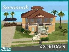 Sims 2 — Savannah Heights by missyzim — Small family or vacation home on a beachside lot. Unfurnished. All Maxis content